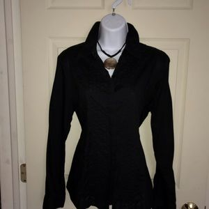 Charter Club black cotton blouse
